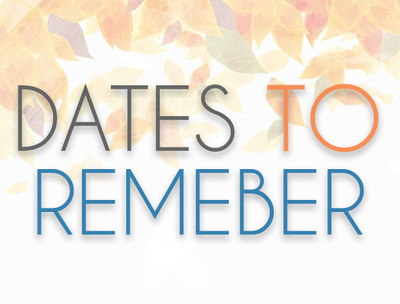 dates to remember fall