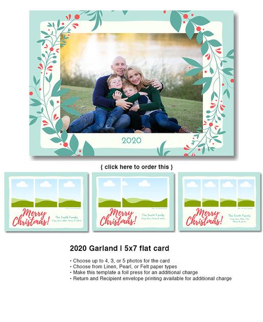 2020 Garland | 5x7 flat card