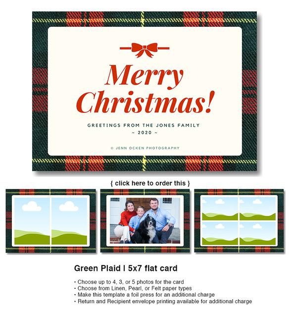 Green Plaid | 5x7 flat card